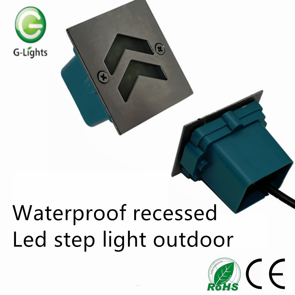 Waterproof recessed led step light outdoor