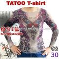 T-shirt en nylon de tatouage en peau de marque Hottes 2016
