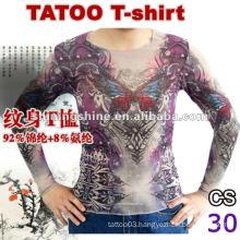 2016 hot sale skin tattoo nylon t-shirt