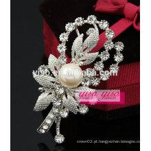 Cristal pérola design simples gracioso broche encantador