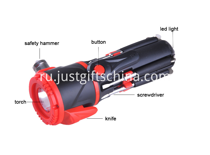 Personalized Multifunction Emergency Hammer W Flashlight (3)
