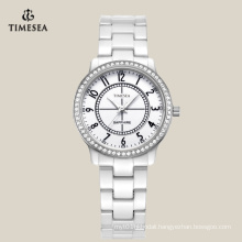 White Ceramic Watch Manufactucturer in Shenzhen with Sapphire Glass 71069