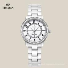 White Ceramic Watch Manufacturer em Shenzhen com Sapphire Glass 71069