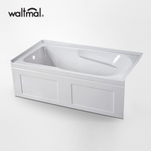 Hamparan Acrylic Alcove Bathtub di White