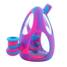 Dab rigs dinosaur egg water pipe glass bong hookah silicone bongs use for smoking MOQ=10pcs