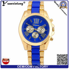 Yxl-326 2016 Men′s Quartz Watch with Blue Dial Chronograph Stainless Steel Wholesale Men Watches