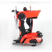 Boy hobby toys 4ch 27cm not small wireless control stunt transform toy RC Racing Robot