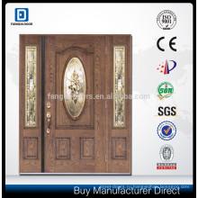 Фанда деревянная дверь зерна красного дерева стеклоткани со стеклом