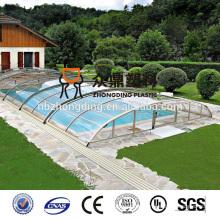 4mm / 6mm / 8mm / 10mm / 12mm / 16mm blaue Doppelwand-hohle PC-Blatt-Swimmingpoolabdeckung