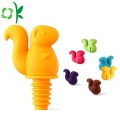 Squirrel Silicone Cute Design Vin Stopper pour Cap
