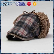 Las lanas al por mayor de la manera hicieron punto el sombrero del invierno de los hombres del sombrero del invierno