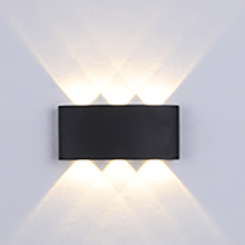 3W Simple&Pure Black LED Indoor Wall Light