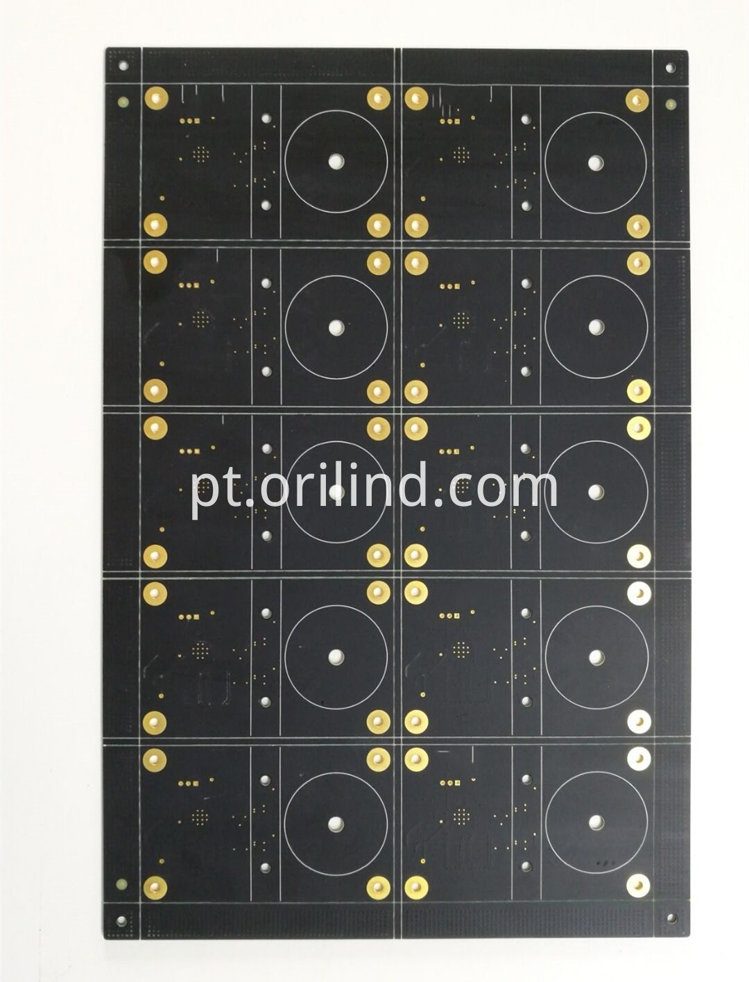 Matt black colour circuit board