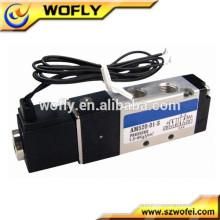 Válvula de solenoide neumática 4v310-10 del aire del acero inoxidable de la alta calidad 5/2 manera 5 / 3way con el cable