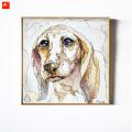 Pensive Dog Cat Portrait Canvas Prints