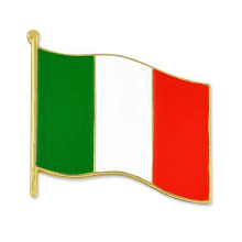 Personalizado Italian World Flag Enamel Solapel Pins