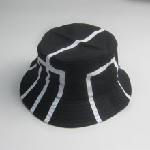 Best Selling Black Bucket Hat With White Print