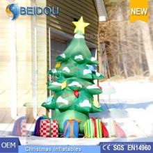 На заказ Гигантское освещение Рождественские елки Украшение Надувная Рождественская елка