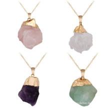 Natural Stone Irregular Pendant Original Stone Crystal Necklace Pendant Jewelry