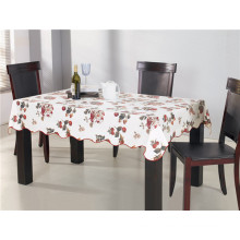 PVC Printed Tablecloth with Nonwoven Backing Oilproof, Waterproof Feature and Square Shape
