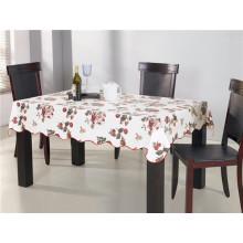 Toalha de mesa impressa PVC com o revestimento não tecido Oilproof, a característica impermeável e a forma quadrada