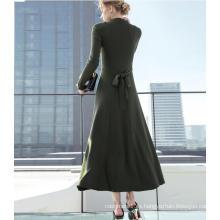 Vestido elegante y de manga larga para mujeres de otoño e invierno