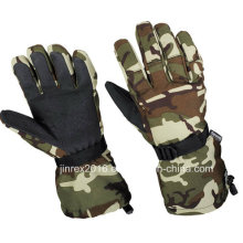 Winter Heated Moto Windproof Outdoor Camouflage Hunting Ski Glove