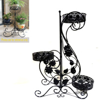Décoration au sol fonctionnelle Multiple jardin Metal Flowerpot Rack Craft