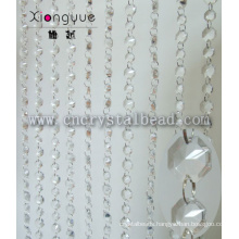 Wholesale Crystal Octagon Beaded Door Curtain For home decor