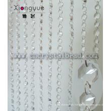 Grosso cristal Octagon frisada porta cortina para decoração