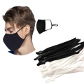 Factory wholesale  5mm flat elastic band  elastic earloop for folding facemask sewing