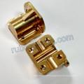 Custom-Made Brass Motor Mounting Bracket with CNC Machining Milling
