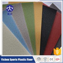 Plancher en plastique tissé d'école de tuile de PVC de LVT de plancher de PVC de PVC