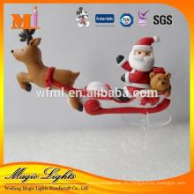 Mini Weihnachtsdekoration Weihnachtsmann Schlitten