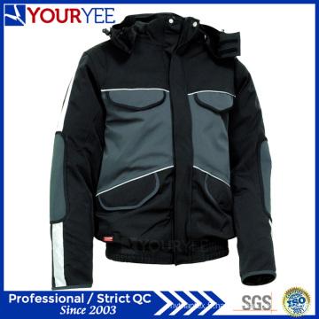 Veste d'hiver imperméable à chaud et abordable abordable avec capuchon détachable (YFS115)