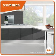 Boa reputação exterior armário de cozinha de folheado moderno
