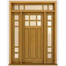Puertas exteriores calientes del precio de China del diseño casero de la puerta de madera sólida del frente