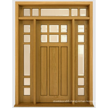 Hot Selling China Price Exterior Doors Home Design Front Solid Wood Door