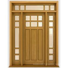 Portas exteriores de venda quente de China Portas exteriores Portas de madeira maciça de frente de Design