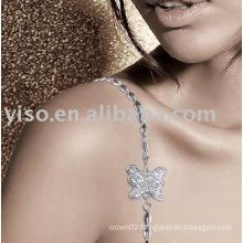 fashion butterfly rhinestone bra straps
