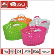 Plastic laundry basket with handle/laundry basket