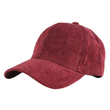 blank corduroy hat 6 panel promotional baseball cap