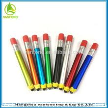lápis de venda quente 2015 forma promocional caneta/toque tela personalizado caneta stylus caneta stylus