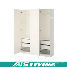 Armoire de chambre classique en contreplaqué blanc (AIS-W264)