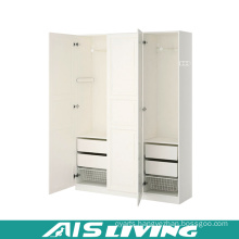 White Classic Plywood Bedroom Wardrobe (AIS-W264)