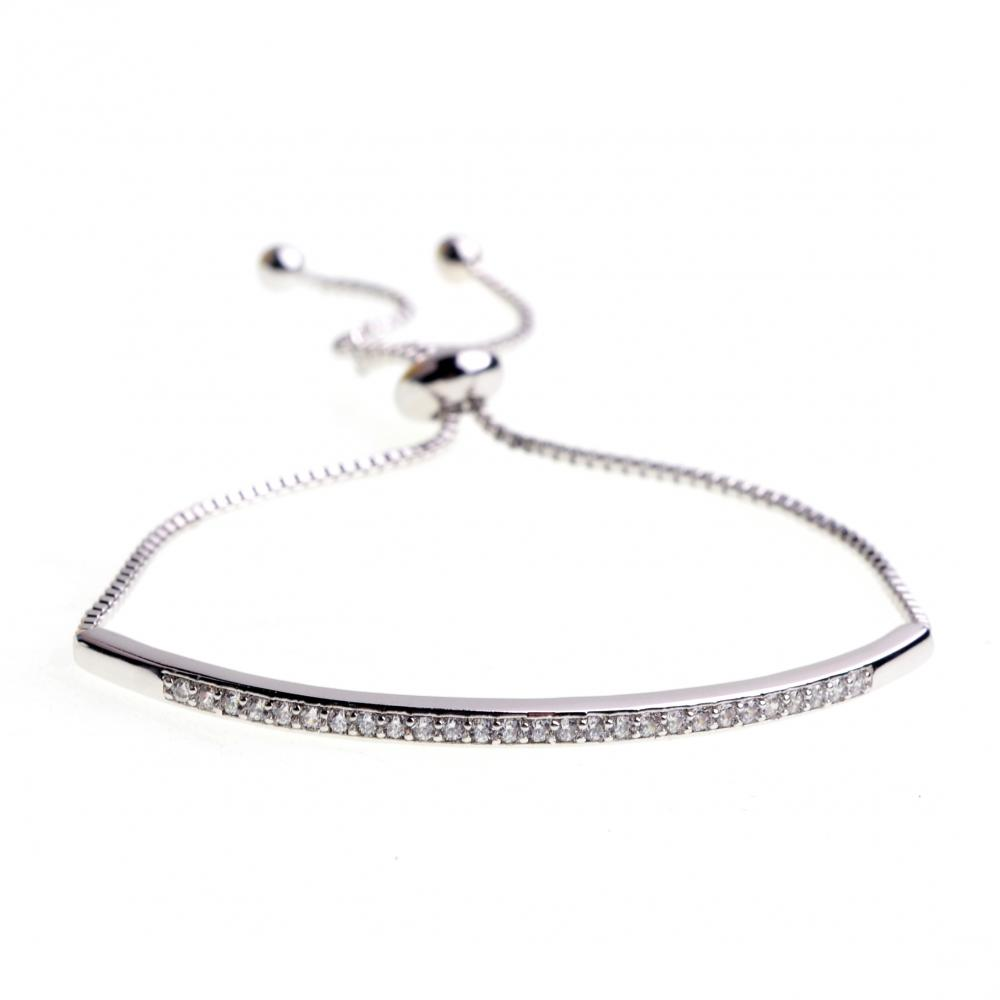 Stainless Steel Artificial Diamond Bracelet Women