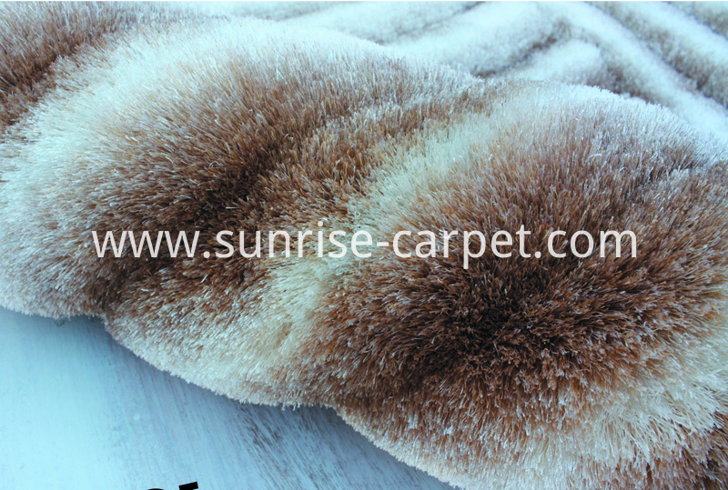Polyester Shaggy 3D rug Beige color