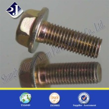 Hex Flange Bolt with Yellow Zinc