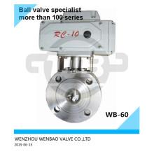 Válvula de bola Wafer motorizada AISI304 Dn40 Pn16