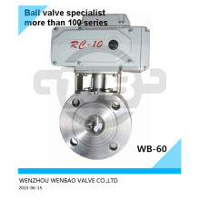 AISI304 Motorized Wafer Ball Valve Dn40 Pn16